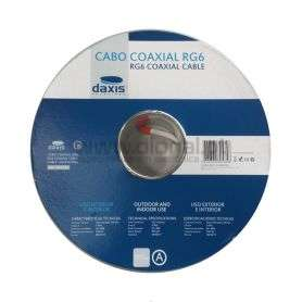 CABO COAXIAL BRANCO RG 6 100 MTS DAXIS