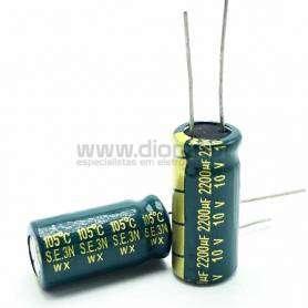 Condensador Electrolítico 2200uf 10V