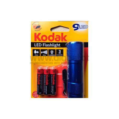 LANTERNA 9-LED FLASHLIGHT AZUL+ 3 AAA EHD