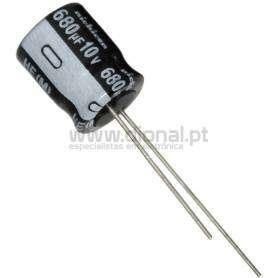 Condensador Electrolítico 680uf 10V