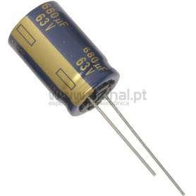 Condensador Electrolítico 680uf 63V