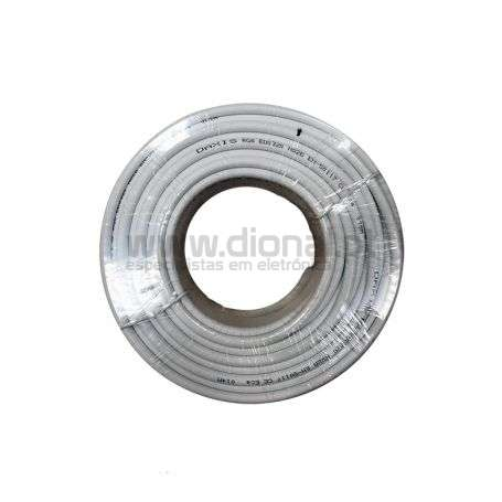 CABO COAXIAL RG6 BRANCO - 25 MTS DAXIS