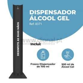 DISPENSADOR DE ÁLCOOL GEL METÁLICO
