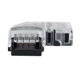 Conector Hipopótamo para unir em L FIta LED IP20 RGB