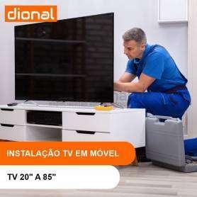 INSTALAÇÃO DE TV NO MÓVEL - DE 20 A 85 POLEGADAS