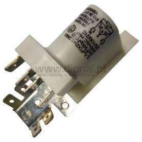 Condensador Arranque Metálico 0,1MF 2X2 500PF