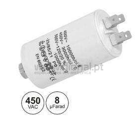 Condensador Arranque Metálico 8MF 450v